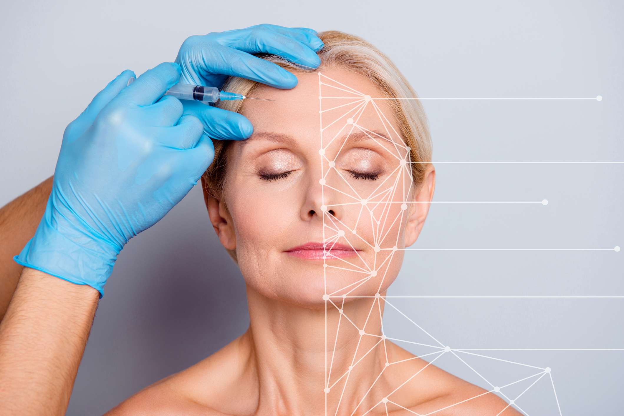 Mature woman receiving Botox injection